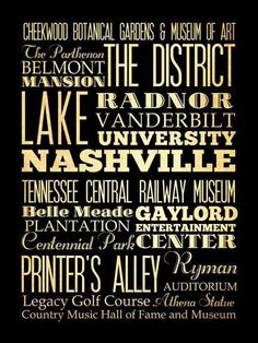 Nashville Tennessee Typography Art Poster / Bus by LegacyHouseArt, $44.95