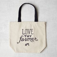 Market Tote Bag - Love Thy Farmer - rats! no longer available at West Elm...