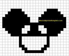 Minecraft Pixel Art Templates: Deadmau5