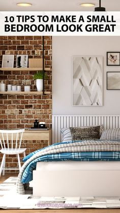 From color schemes to furniture arrangement, we've got ten tips to make a small bedroom look great! Rental Home Decor, Rental Decorating, Home Decor Bedroom, Bedroom Ideas, Master Bedroom, Beautiful Home Designs, Beautiful Interior Design, Cosy Apartment, Bedroom Flooring