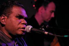 Geoffrey Gurrumul Yunupingu performing at St George's Church, Brighton, May 2009. Photo by Greg Neate, CC BY 2.0