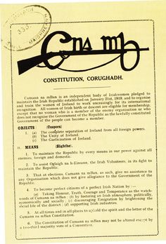 Cumann na mBan constitution Ireland 1916, Northern Ireland Troubles, Easter Rising, Erin Go Bragh, House Of Commons, Irish Men, The Republic, Constitution, Digital Scrapbooking