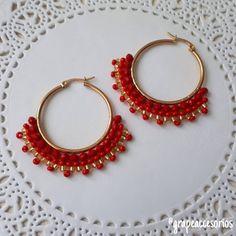 Diy Jewelry, Beaded Jewelry, Handmade Jewelry, Beaded Necklace, Jewelry Design, Jewelry Making, Beaded Bracelets, Gold Hoop Earrings, Bead Earrings