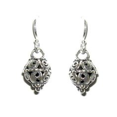 Sterling silver earrings Delicate Filigree israeli by Bluenoemi, $69.00