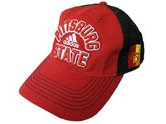 Pittsburg State Adidas Slouch Adjustable Hat - Red/Black