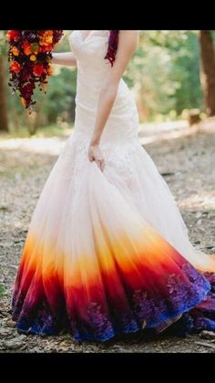 Dip Dyed Wedding Dress Bottom