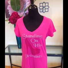 Standing on HIS promises~➋Ⓧ This shirt is pretty and poignant super comfortable! Ayankoya Custom Tops Tees - Short Sleeve