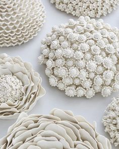 Current crush: wallflowers by artist Vanessa Hogge. These dazzling, super unique pieces of porcelain beauties are such a delight to look at!