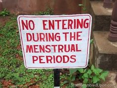 Many myths and social norms restrict women and girls' level of participation in society. In India and many parts of South Asia, women are not allowed into religious temples when they are menstruating.   We must shatter these rules & stop shaming women for being women.