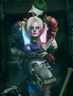 Harley Quinn & Joker / Suicide Squad. Mirror Version