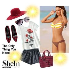 """""""Sunshein"""" by seadbeady ❤ liked on Polyvore featuring Victoria's Secret"""