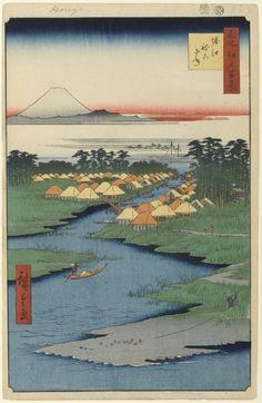 Hiroshige - One Hundred Famous Views of Edo - 96. Horie Nekozane