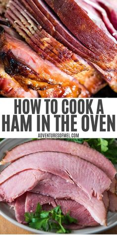 Kitchen Ideas Decor Easy tips and steps with everything you've ever wanted to know about how to cook a ham in the oven. Baked spiral ham recipe with a simple glaze. Oven Ham Recipes, Recipes With Cooked Ham, Easy Spinach Recipes, Easy Dinner Recipes, Cooking Recipes, Salmon Recipes, Keto Recipes, Vegetarian Recipes, Icing Recipes
