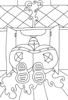 Plumber Butt  Funny Adult Coloring Page from by ChubbyArtCartoons