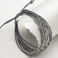 Inspiration photo - LOVE THE GRAYS!   Beaded Bracelet                                                                                                                                                      More