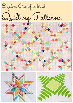 Need inspiration for your next quilting project? Look no further than Craftsy's online pattern marketplace, home to thousands of free quilting patterns! Start browsing now -- there's no limit to what you can create with free inspiration all around you!