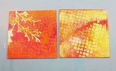 Join us over the next few weeks as we explore making colorful prints using a Gelli Arts Gelli Plate. We've even slid our art tables...