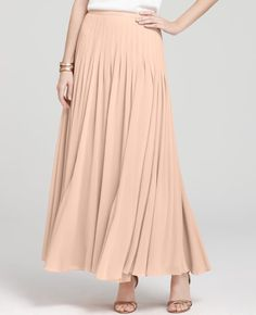 Literally the most perfect peach maxi skirt- of course it's sold out. :c    Ann Taylor - AT Modern Dance - Ballet Maxi Skirt.