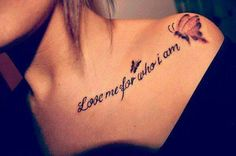 How much does a collar bone tattoo hurt? We have collar bone tattoo ideas, designs, pain placement, and we have costs and prices of the tattoo. Love Quote Tattoos, Tattoo Quotes For Women, Pretty Tattoos, Sexy Tattoos, Beautiful Tattoos, Thigh Tattoos, Tribal Tattoos, Small Tattoos, Quotes Women