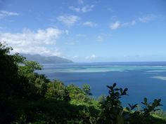 """The """"Presqu'île"""" (Almost the island) Of Tahiti, view from the mountain"""