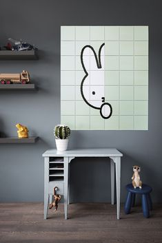 Minimalistic Miffy wall art for your kids room or nursery. Which one is your favourite?