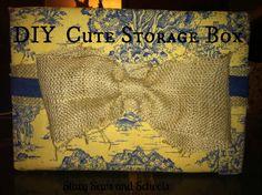 DIY Cute Storage Box 01 Cute Storage Boxes, Sewing Tutorials, Sewing Ideas, Math Formulas, Free Sewing, Crafting, Homeschooling Resources, Diy, Maths Formulas