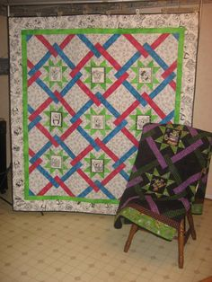 PDF Quilt Pattern STARLINKS  72 x 78 by QuiltsbyWingDesigns, $10.00