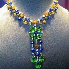 Beautiful #bulgari #necklace #multisapphire#sapphire#peridot#emerald#jewelry#jewellery#gemstone#diamond #highjewelry #design #diamonds #cute #love #beautiful #beauty #happy #instagood #fashion #followme #life#art #like4like #paris #style #finejewelry#likeforlike #me #mariigem