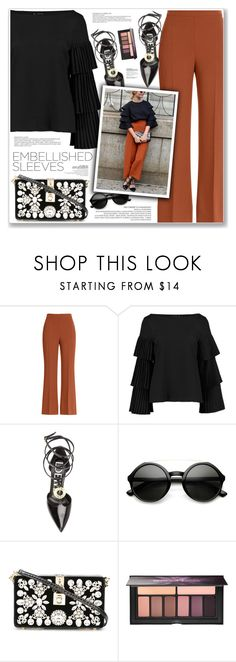 """EMBELLISHED SLEEVES"" by nanawidia ❤ liked on Polyvore featuring Fendi, Boohoo, Loewe, ZeroUV, Dolce&Gabbana, Smashbox, polyvoreeditorial, polyvorecontest and embellishedsleeves"