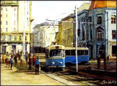 Mladen Bolfek - tramvaj na Jelačić placu
