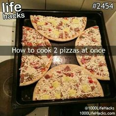 Cooking two store bought pizzas at once