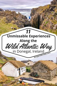 Ten experiences along the Wild Atlantic Way in Donegal, that you must not miss and how to make the most of the Wild Atlantic Way route through Donegal. If you are planning a trip to the northernmost c Ireland Travel Guide, Europe Travel Guide, Travel Guides, Ireland Hiking, Ireland Pubs, Galway Ireland, Cork Ireland, Travel List, Dark Hedges