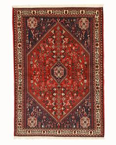 EORC X35946 Rust Hand Knotted Wool Abadeh Rug (3'6 x 5'1)