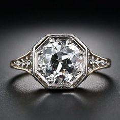 2.04 Carat Antique Diamond Solitaire Ring. Circa 1920's.