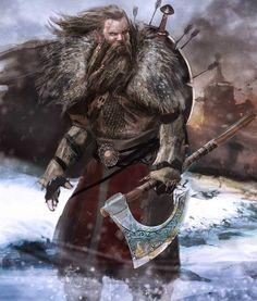 Fantasy Warrior, Fantasy Rpg, Medieval Fantasy, Fantasy Artwork, Dark Fantasy, Fantasy Fighter, Thor, Dnd Characters, Fantasy Characters