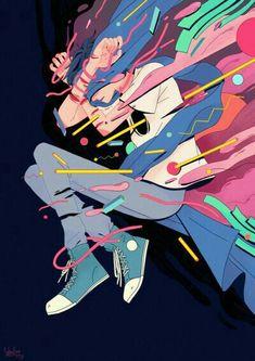 New painting art design artworks Ideas Digital Illustration, Character Illustration, Bel Art, Character Art, Character Design, Desu Desu, Image Manga, Art Japonais, Art Graphique