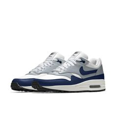 5019e74e580 Cheap Nike Air Max 1 Essential Id Blue White Grey Sale