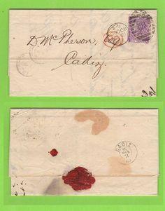 G.B. 1871 Q.V. 6d PL9 on entire to Cadiz, Spain | eBay