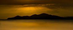 Moody lake - Sunset coming on Lake Sevan in Armenia.