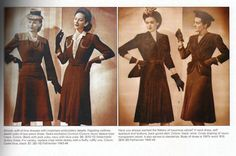 . 1940s Fashion Trends, 1940's Fashion, Fashion Outfits, Bridesmaid Dresses, Wedding Dresses, Clothing, 1940 Music, Tall Clothing