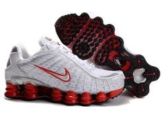 Chaussures Nike Shox TL1 Blanc/ Rouge [nike_12418] - €45.87 : Nike Chaussure Pas Cher,Nike Blazer and Timerland   http://www.facebook.com/pages/Chaussures-nike-originaux/376807589058057  http://www.topchausmall.com/