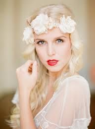 Love the folwers in the hair idea, but I would like it better with an updo