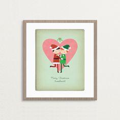 CUSTOMIZED Christmas Mistletoe Gay Kiss - 8 x 10 Print by rosydesignsonline on Etsy https://www.etsy.com/listing/59944869/customized-christmas-mistletoe-gay-kiss