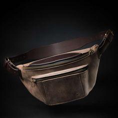 Fanny pack by Kruk Garage Brown leather bag Hip bag Waist bag