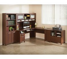 Bush Furniture Achieve Collection L Desk And Hutch Ping The Best Deals On Shape Desks Worke Pinterest