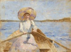 """Woman Rowing, Sketch"" (1892) by Maria Wiik"