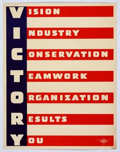 VICTORY - War Production Drive (Douglas Aircraft) WWII poster; would love to have something like this in my apartment/ future condo