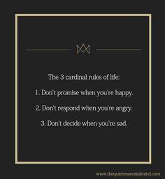 [Image] The 3 Cardinal Rules of Life - Imgur