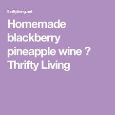 Homemade blackberry pineapple wine ⋆ Thrifty Living