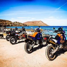 This could be you. #baja #ktm990 #ktm990adventure #ktm950adventure #ktmusa #ktm950se #ktm350 Ktm 990 Adventure, Ktm 950, Ktm Motorcycles, Dual Sport, Rottweiler, Biking, Rally, Wheels, Therapy